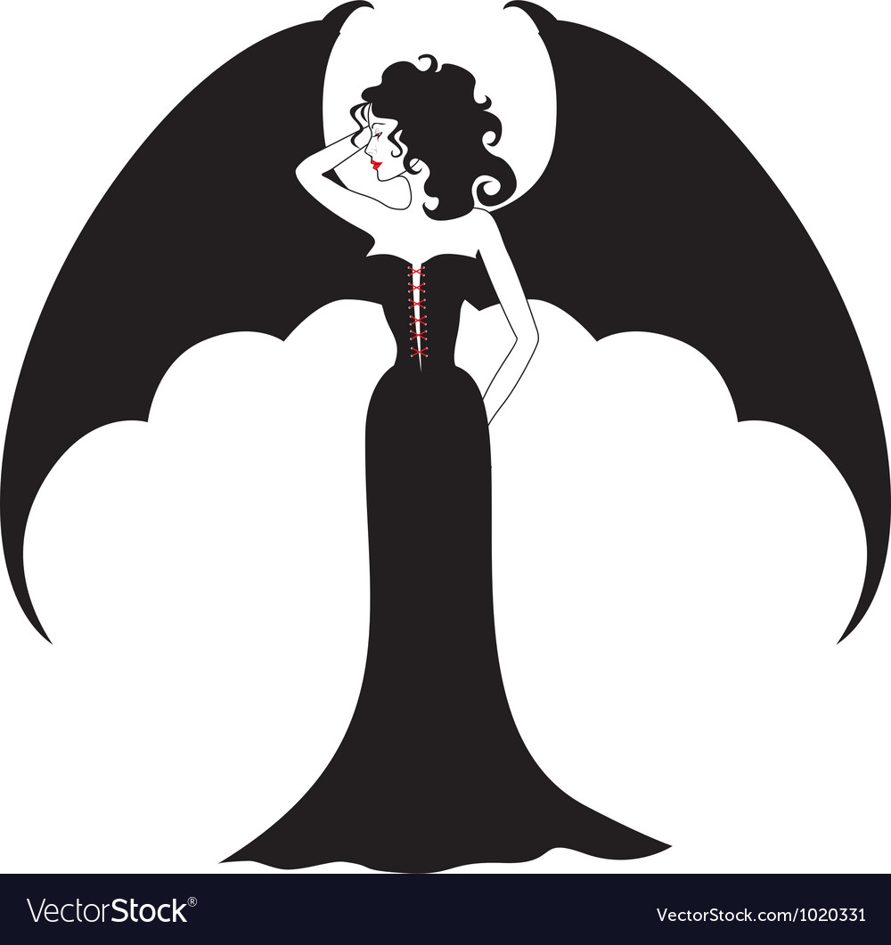 Vampire lady vector | Price: 1 Credit (USD $1)
