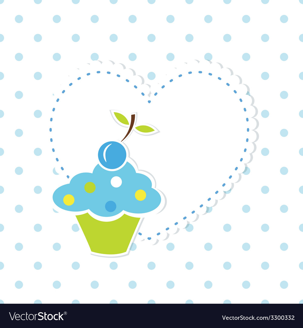 Blue cupcake background 2 vector | Price: 1 Credit (USD $1)