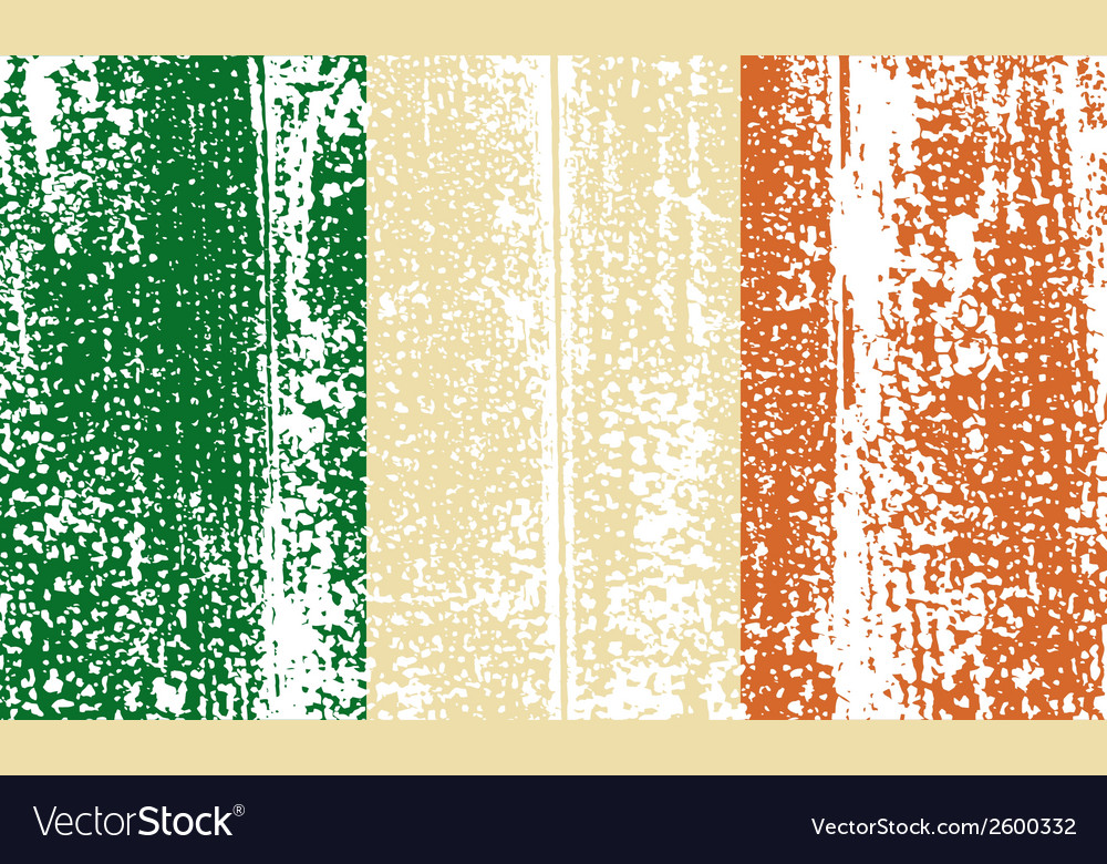 Irish grunge flag vector | Price: 1 Credit (USD $1)