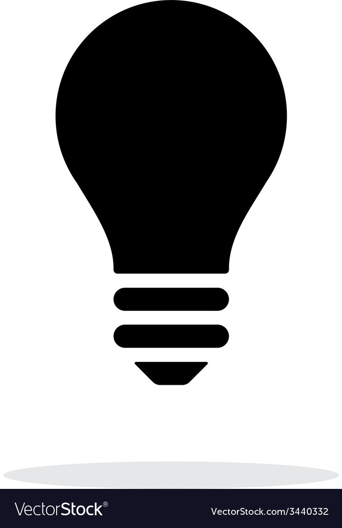 Light bulb icon on white background vector | Price: 1 Credit (USD $1)