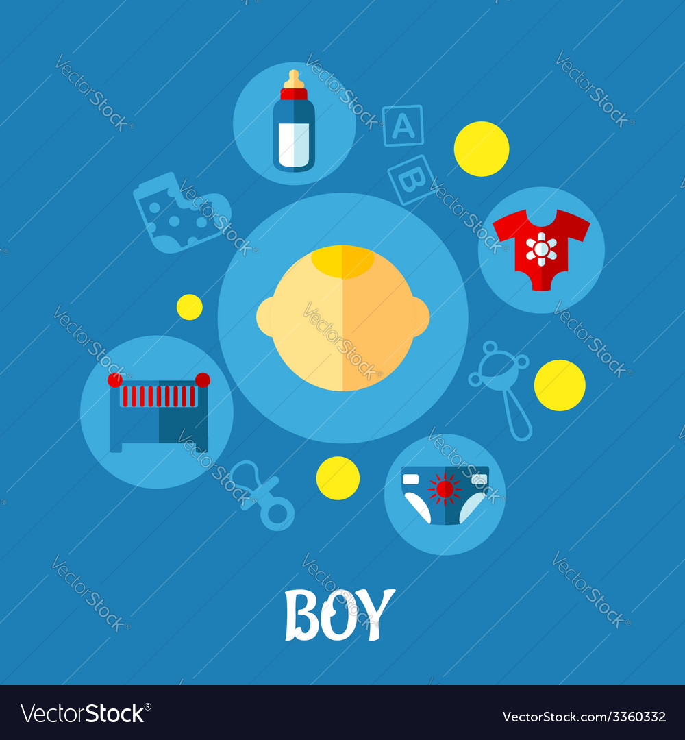 Little boy concept graphic design vector | Price: 1 Credit (USD $1)