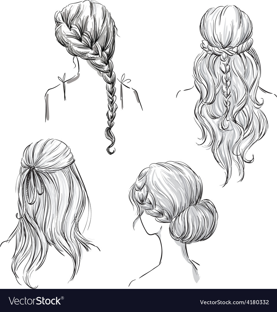 Set of different hairstyles vector | Price: 1 Credit (USD $1)