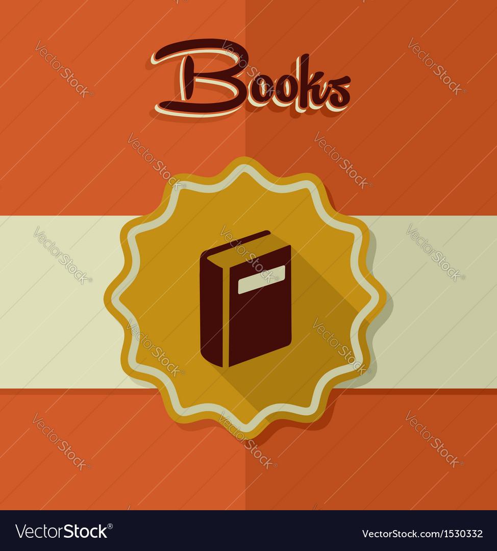 Vintage books label elements vector | Price: 1 Credit (USD $1)