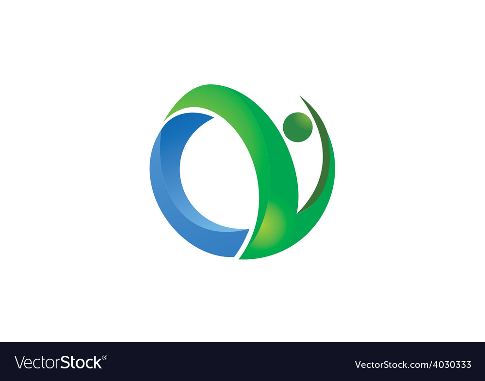 Abstract people fitness logo vector | Price: 1 Credit (USD $1)