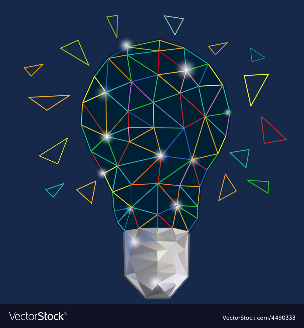 Digital light bulb colorful vector | Price: 1 Credit (USD $1)