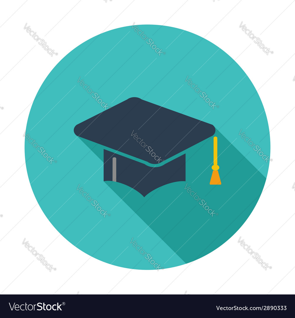 Education flat icon vector | Price: 1 Credit (USD $1)