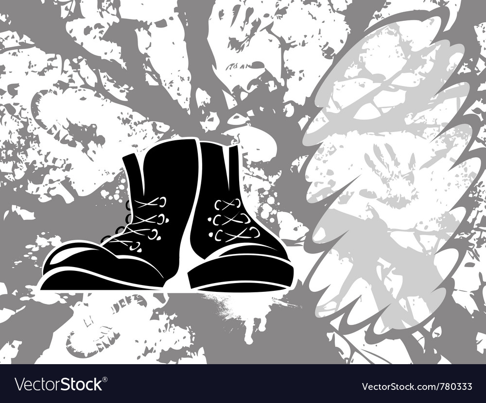 Grungy shoes vector | Price: 1 Credit (USD $1)