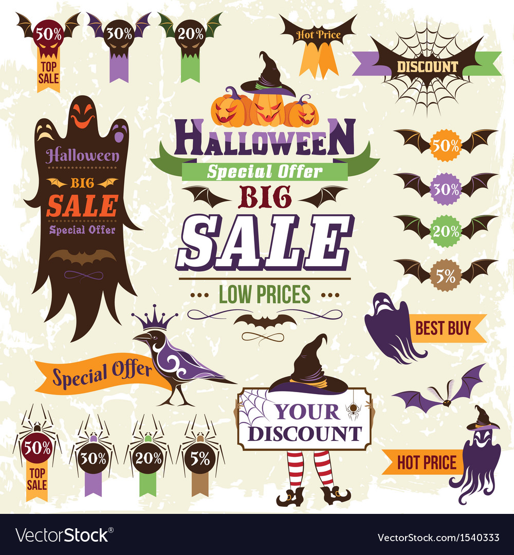 Halloween sale vector | Price: 3 Credit (USD $3)