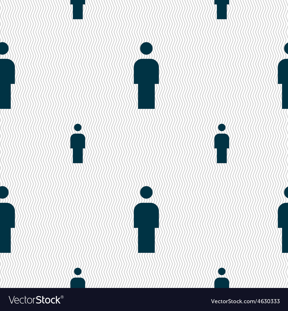 Human man person male toilet icon sign seamless vector | Price: 1 Credit (USD $1)
