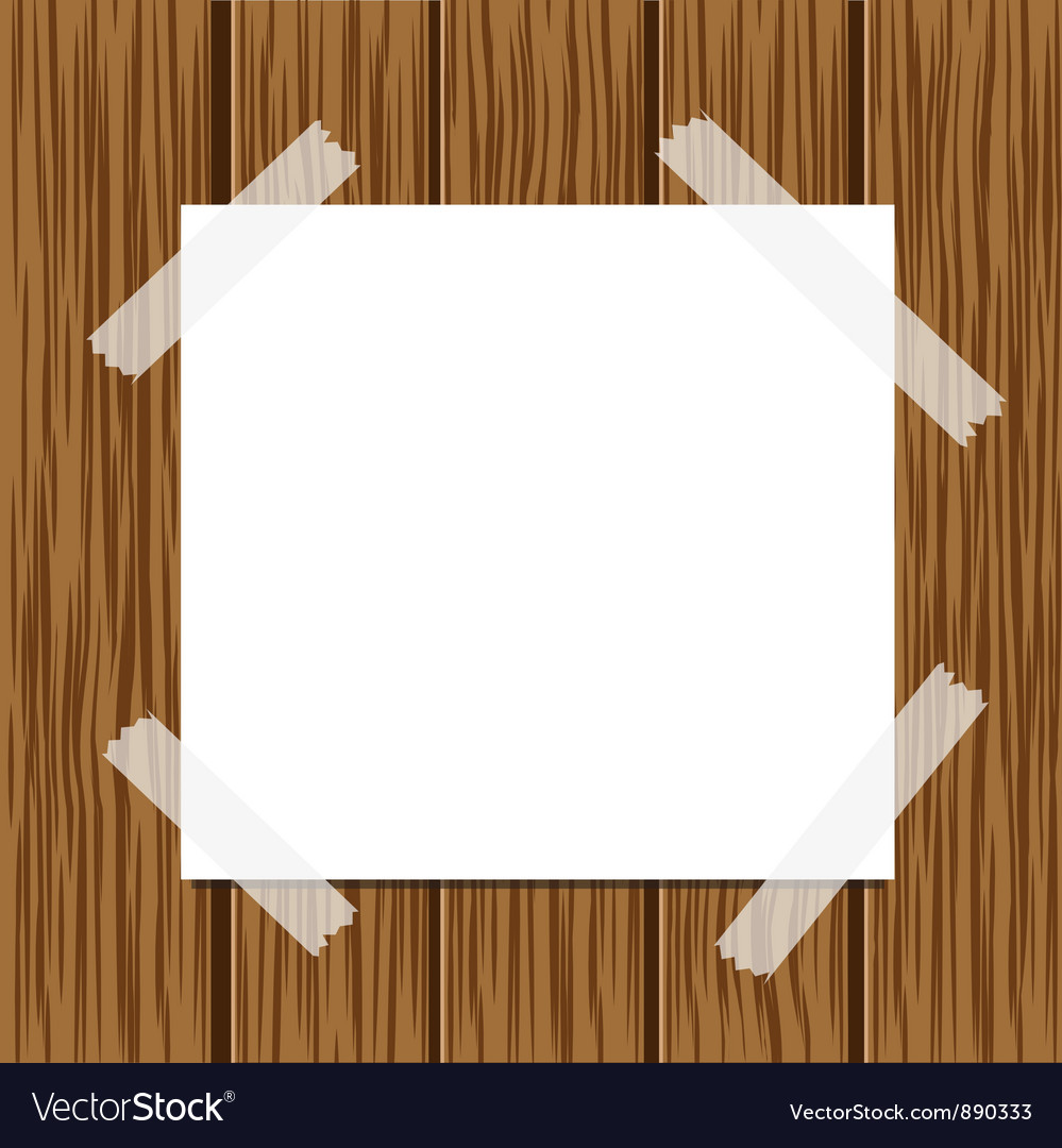 Paper message and wood background vector | Price: 1 Credit (USD $1)
