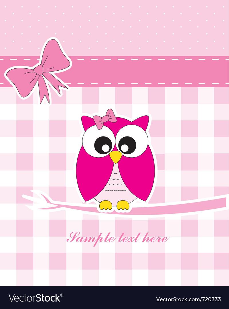 Pink owl vector | Price: 1 Credit (USD $1)