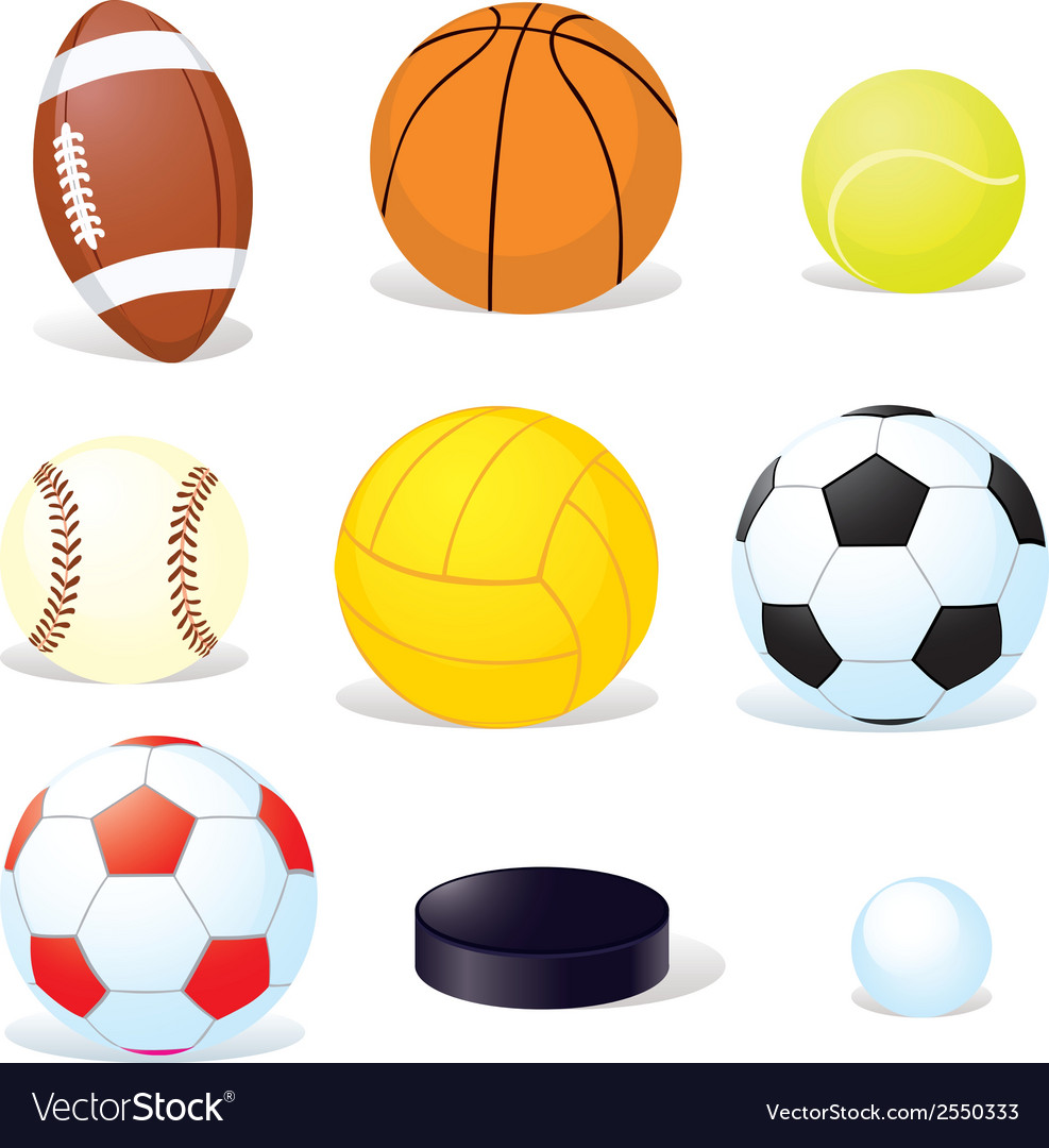 Sport balls isoletad vector | Price: 1 Credit (USD $1)