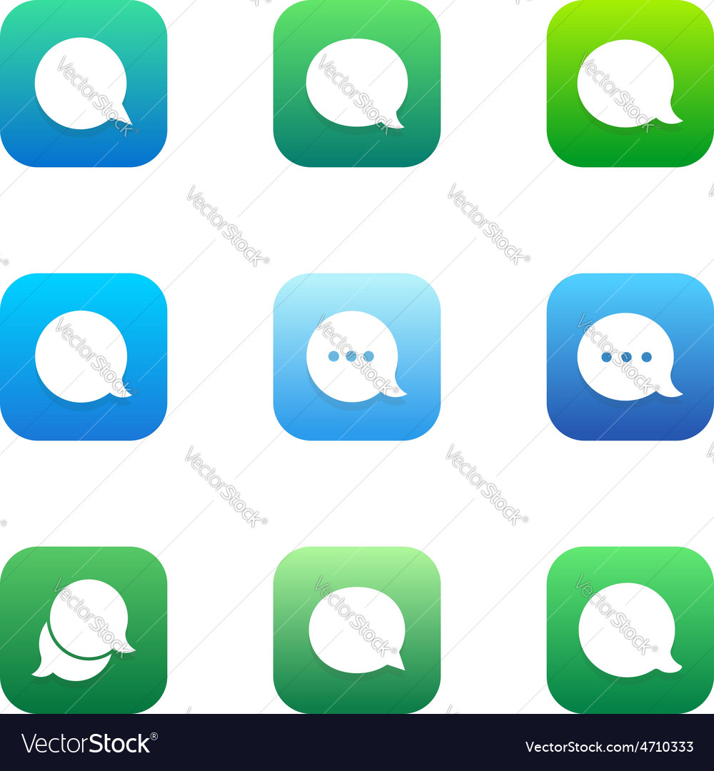 Talk bubble comment and message logo icons set vector | Price: 1 Credit (USD $1)