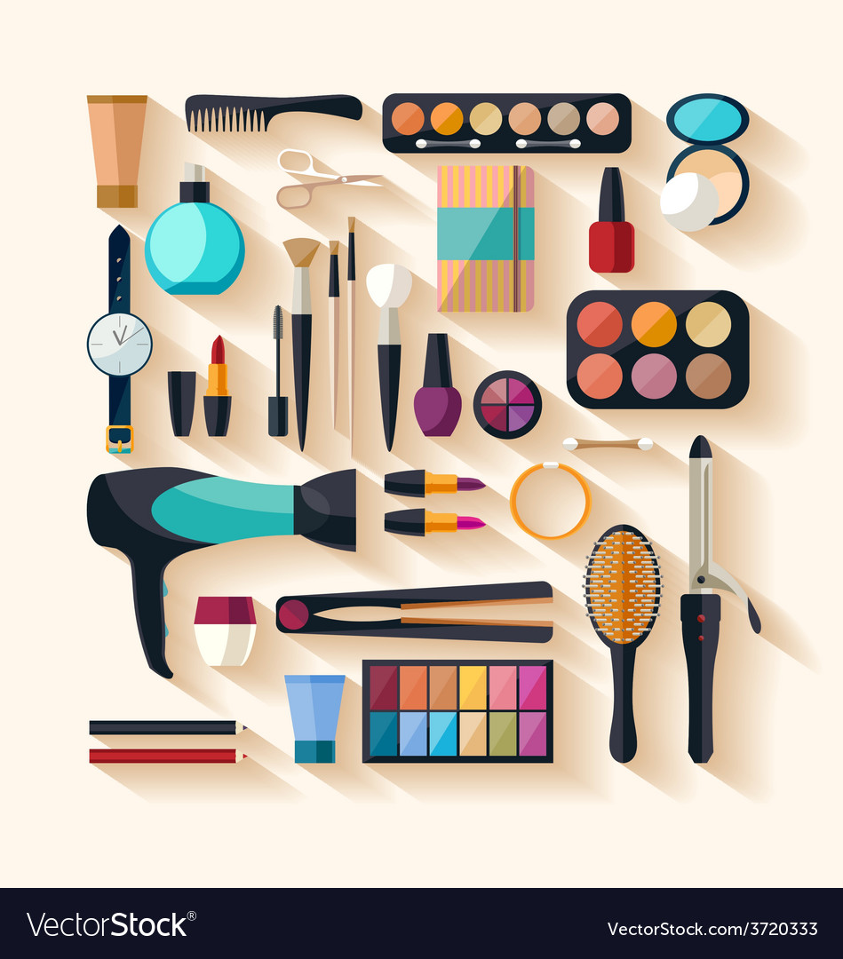 Tools for makeup vector | Price: 1 Credit (USD $1)