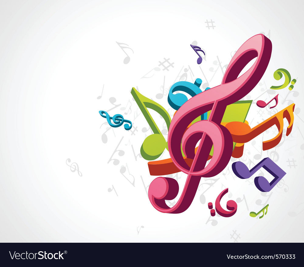 Treble clef music vector | Price: 1 Credit (USD $1)