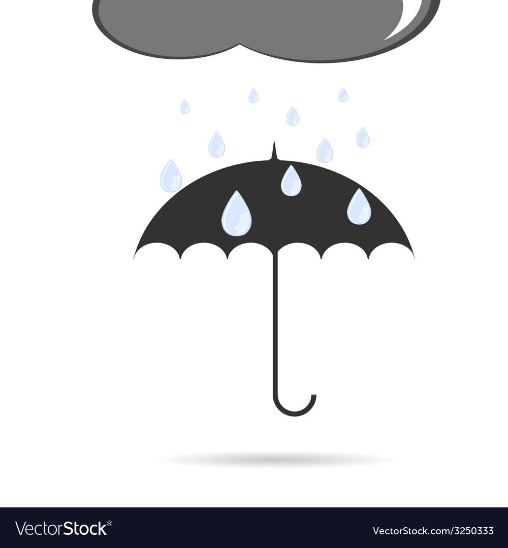 Umbrella with rain vector   Price: 1 Credit (USD $1)