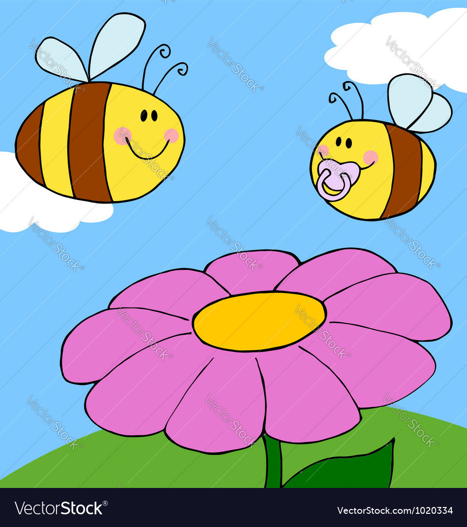 Chubby baby bee vector | Price: 1 Credit (USD $1)