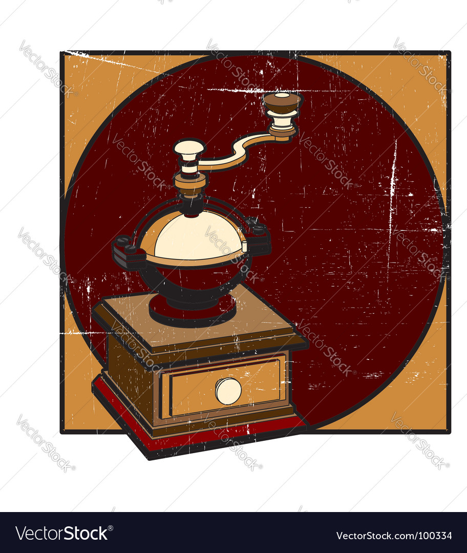 Coffee mill grunge vector | Price: 1 Credit (USD $1)