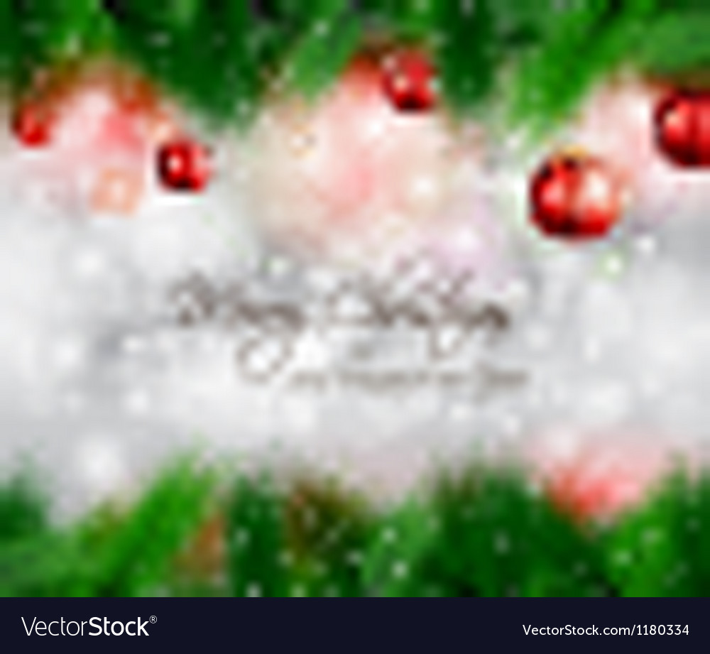 Elegant classic christmas flyer with tree leaves vector | Price: 1 Credit (USD $1)