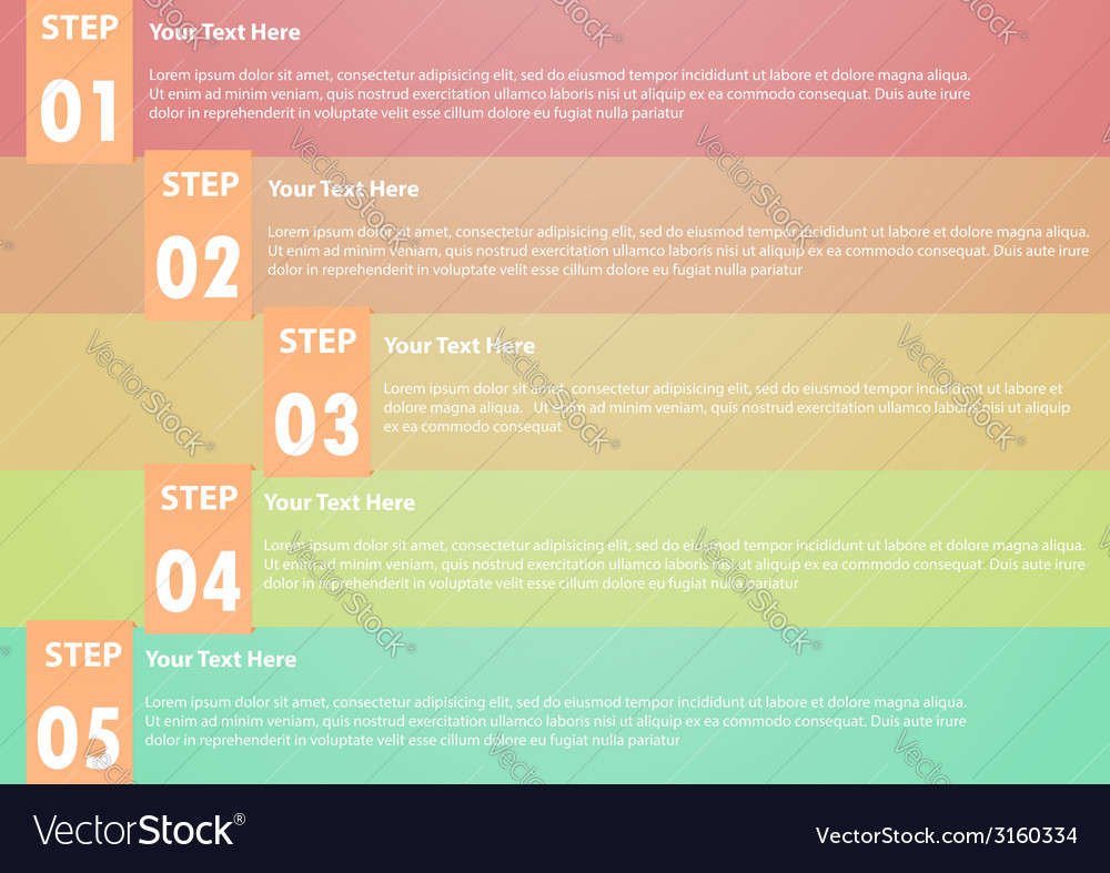 Five step infographics background vector | Price: 1 Credit (USD $1)