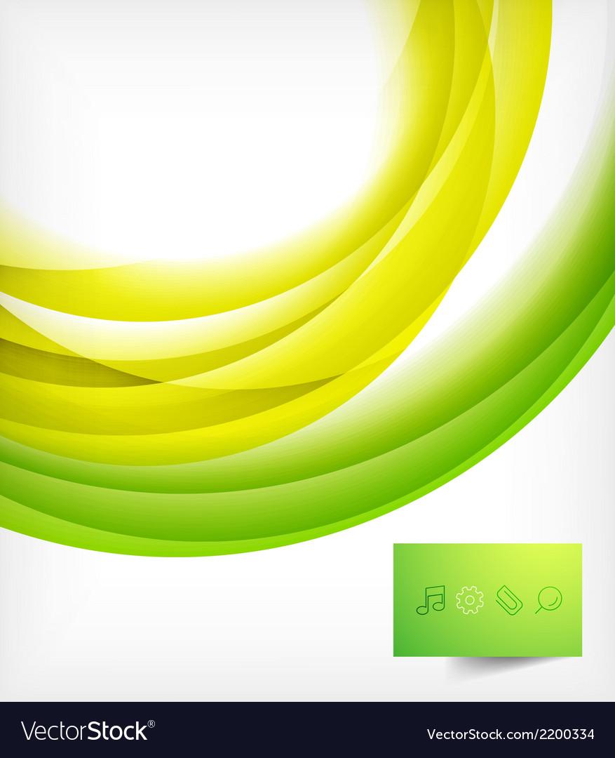 Green bright wave design vector | Price: 1 Credit (USD $1)
