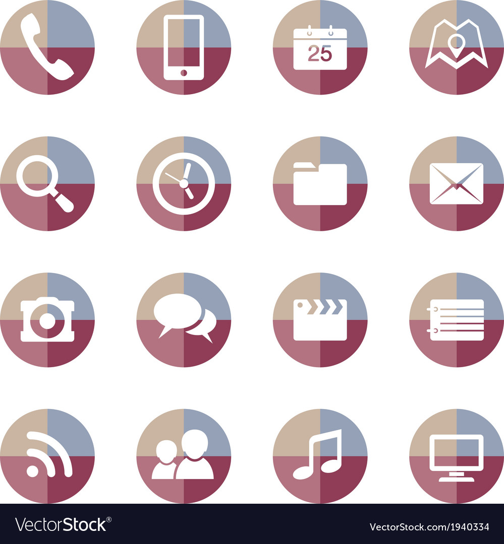 Mobile applications icons set 2 vector