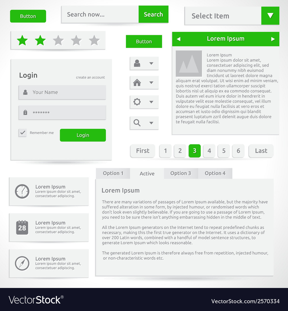 Web elements vector | Price: 1 Credit (USD $1)