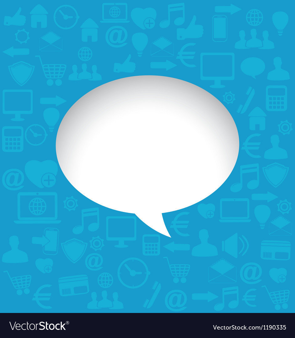 Background with social media icons for text vector | Price: 1 Credit (USD $1)