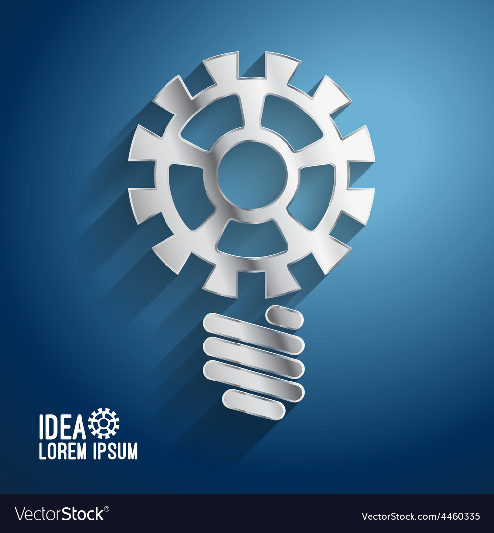 Business ideas concepts featuring light gear vector | Price: 1 Credit (USD $1)
