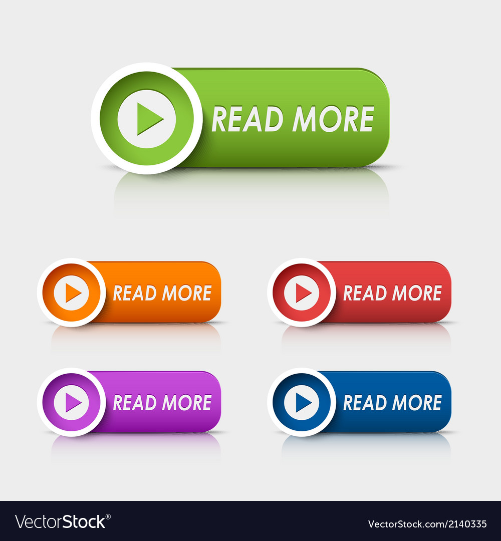 Colored rectangular web buttons read more vector | Price: 1 Credit (USD $1)