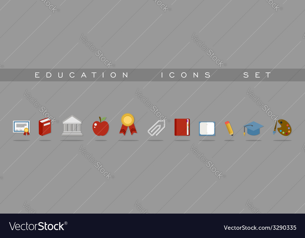 Education icons set design vector | Price: 1 Credit (USD $1)