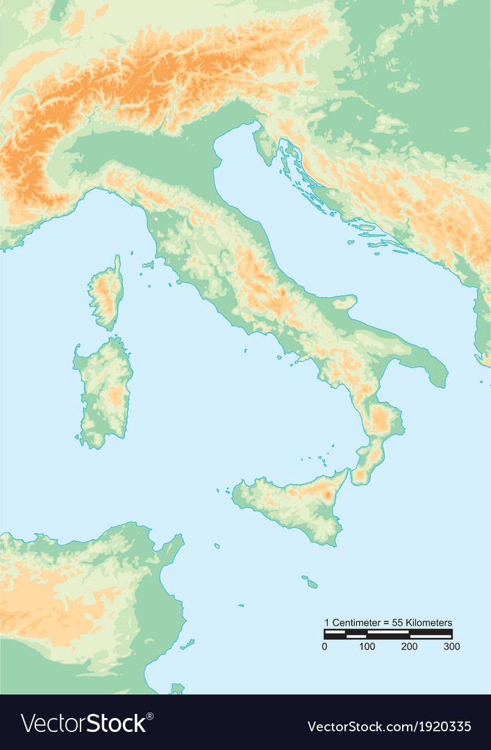 Italy physical vector | Price: 1 Credit (USD $1)