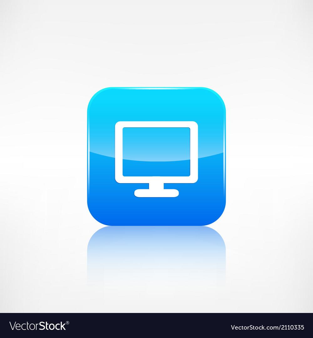 Monitor web icon computer display vector   Price: 1 Credit (USD $1)