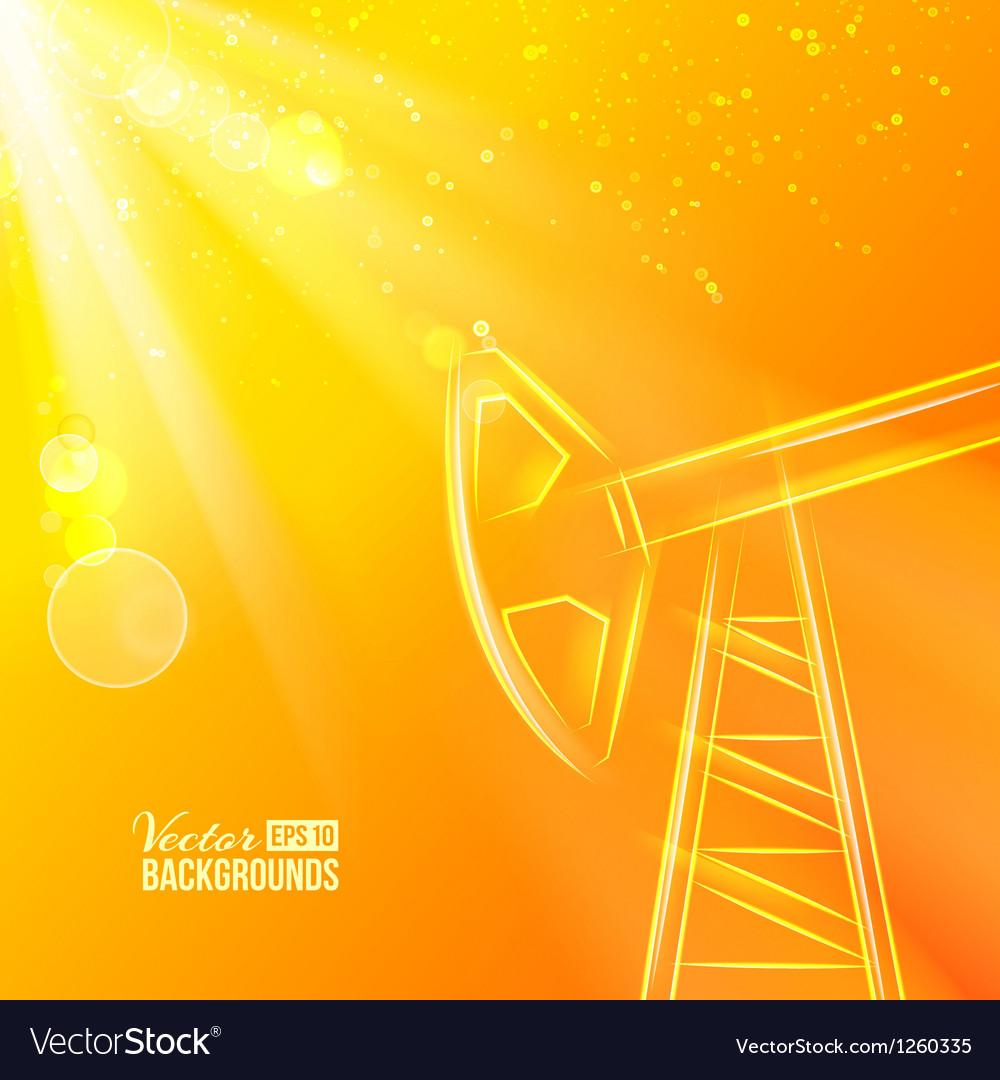 Oil pump vector | Price: 1 Credit (USD $1)