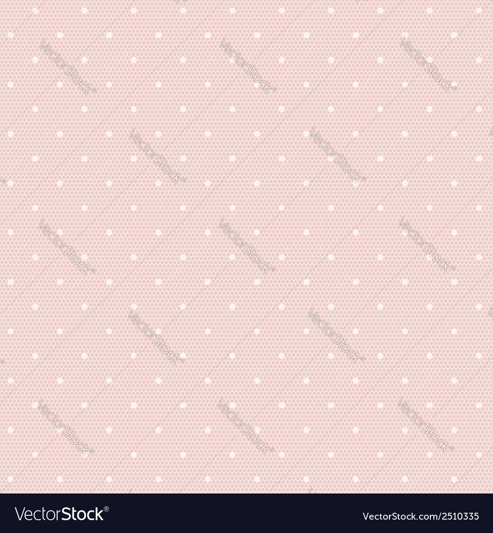 Pink lacy seamless pattern with polka dots vector | Price: 1 Credit (USD $1)