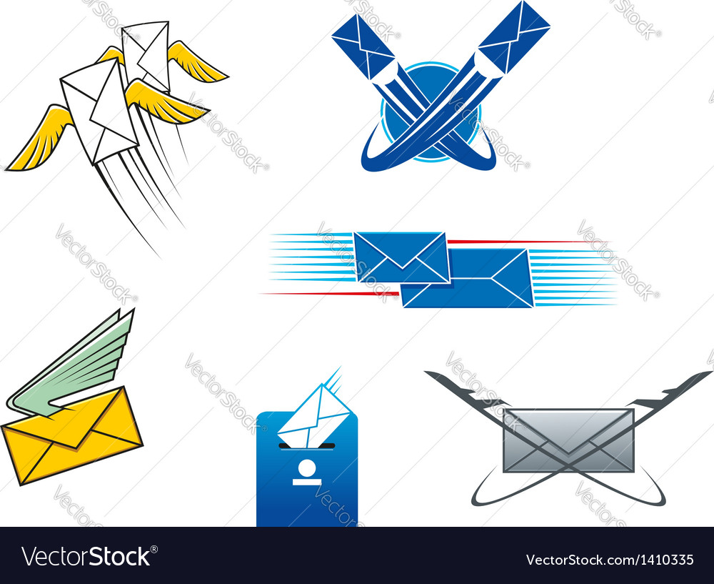 Post mail and letters symbols vector | Price: 1 Credit (USD $1)