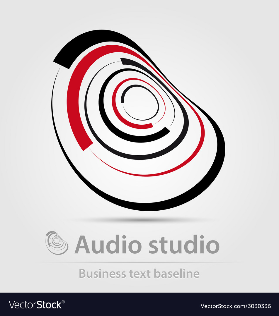 Audio studio business icon vector | Price: 1 Credit (USD $1)
