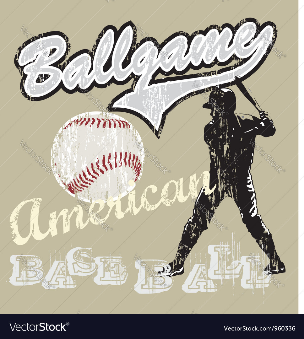 Ball game baseball vector | Price: 1 Credit (USD $1)