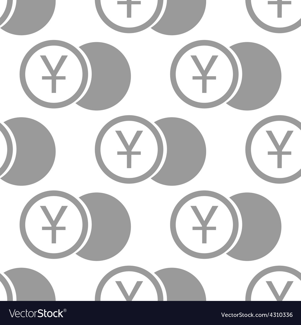 New yen coin seamless pattern vector | Price: 1 Credit (USD $1)