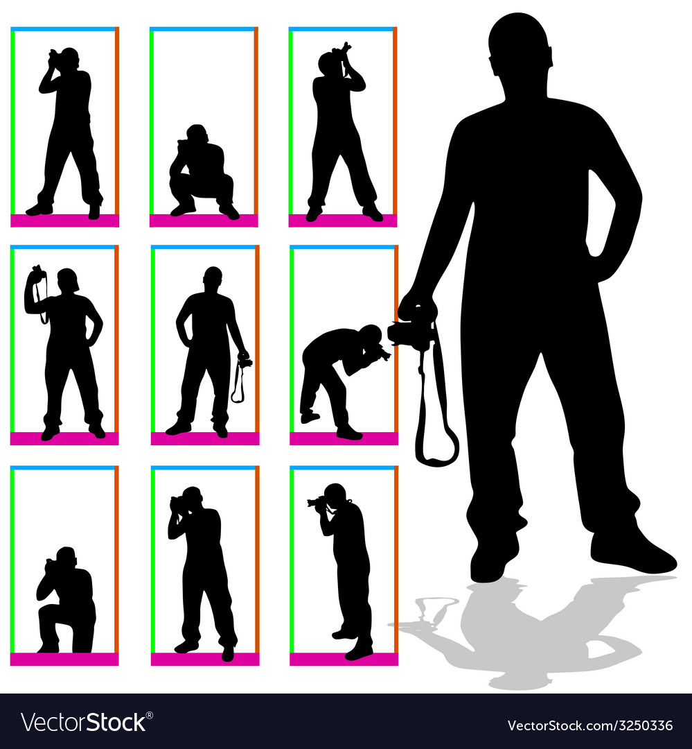Photographer silhouette in box vector | Price: 1 Credit (USD $1)