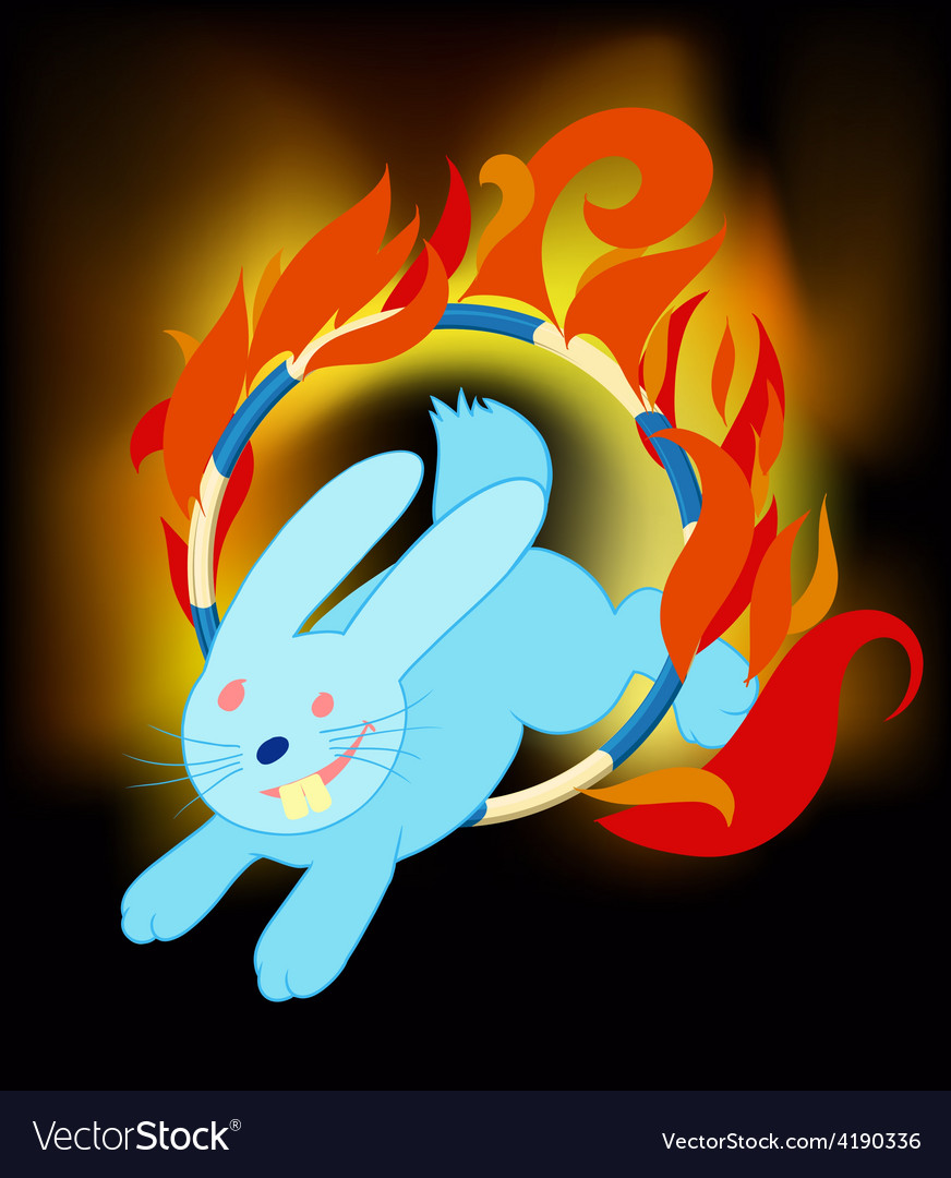 Rabbit jumping vector | Price: 1 Credit (USD $1)