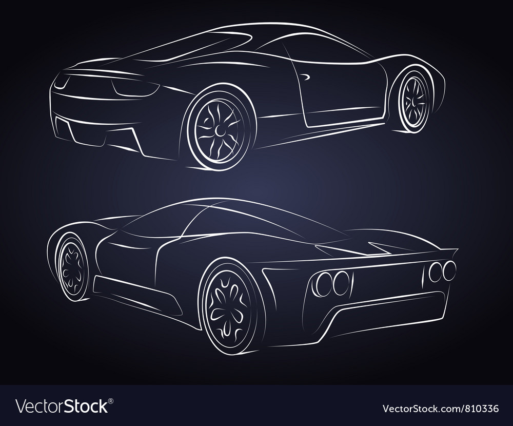 Sport cars silhouette vector | Price: 1 Credit (USD $1)