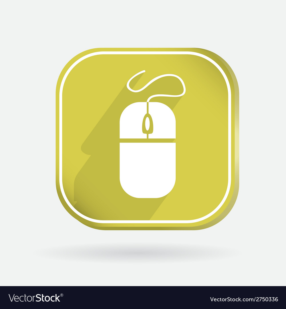 Square icon computer mouse vector | Price: 1 Credit (USD $1)