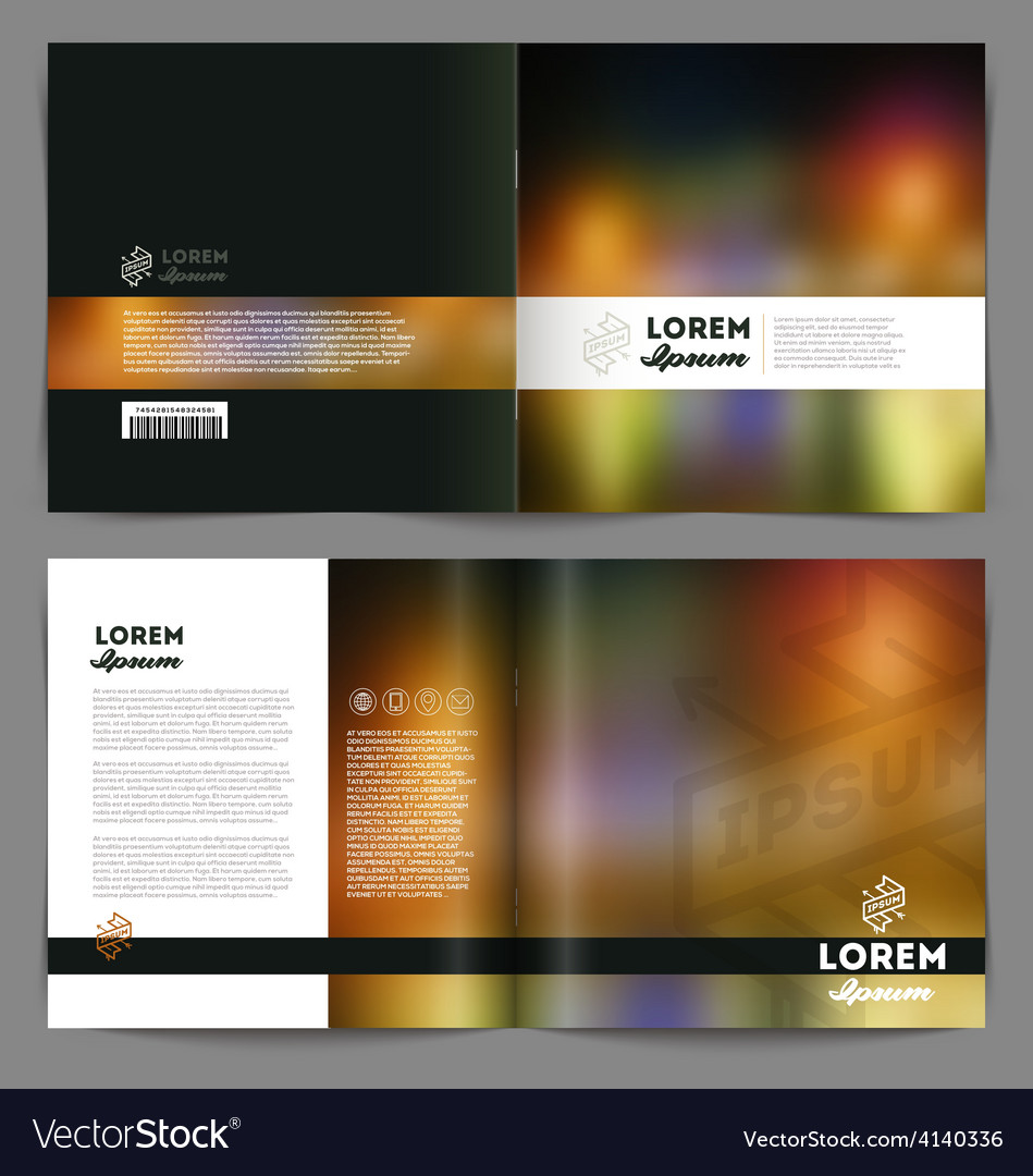 Template booklet abstract design cover and inside vector | Price: 1 Credit (USD $1)