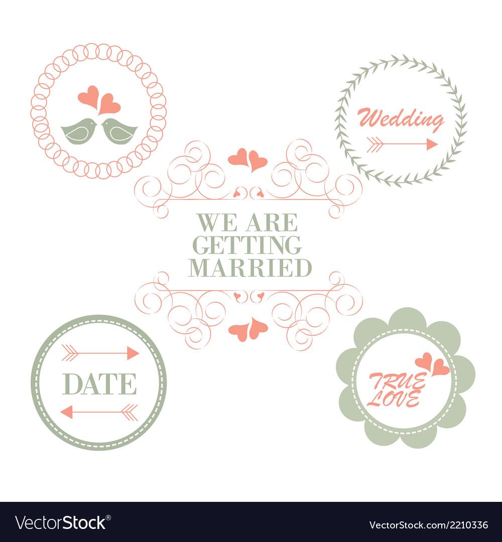 Wedding vinteage vector | Price: 1 Credit (USD $1)