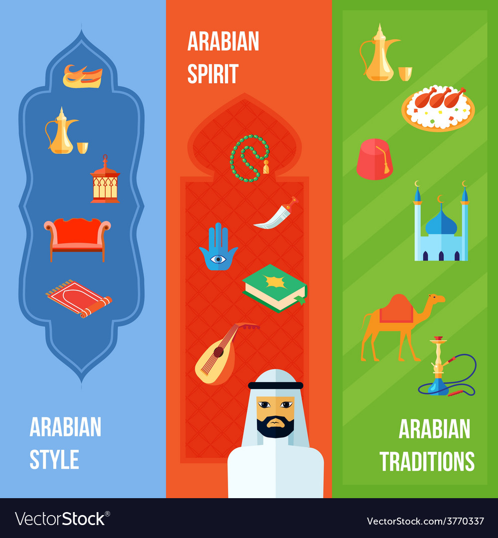 Arabic culture banner vector | Price: 1 Credit (USD $1)
