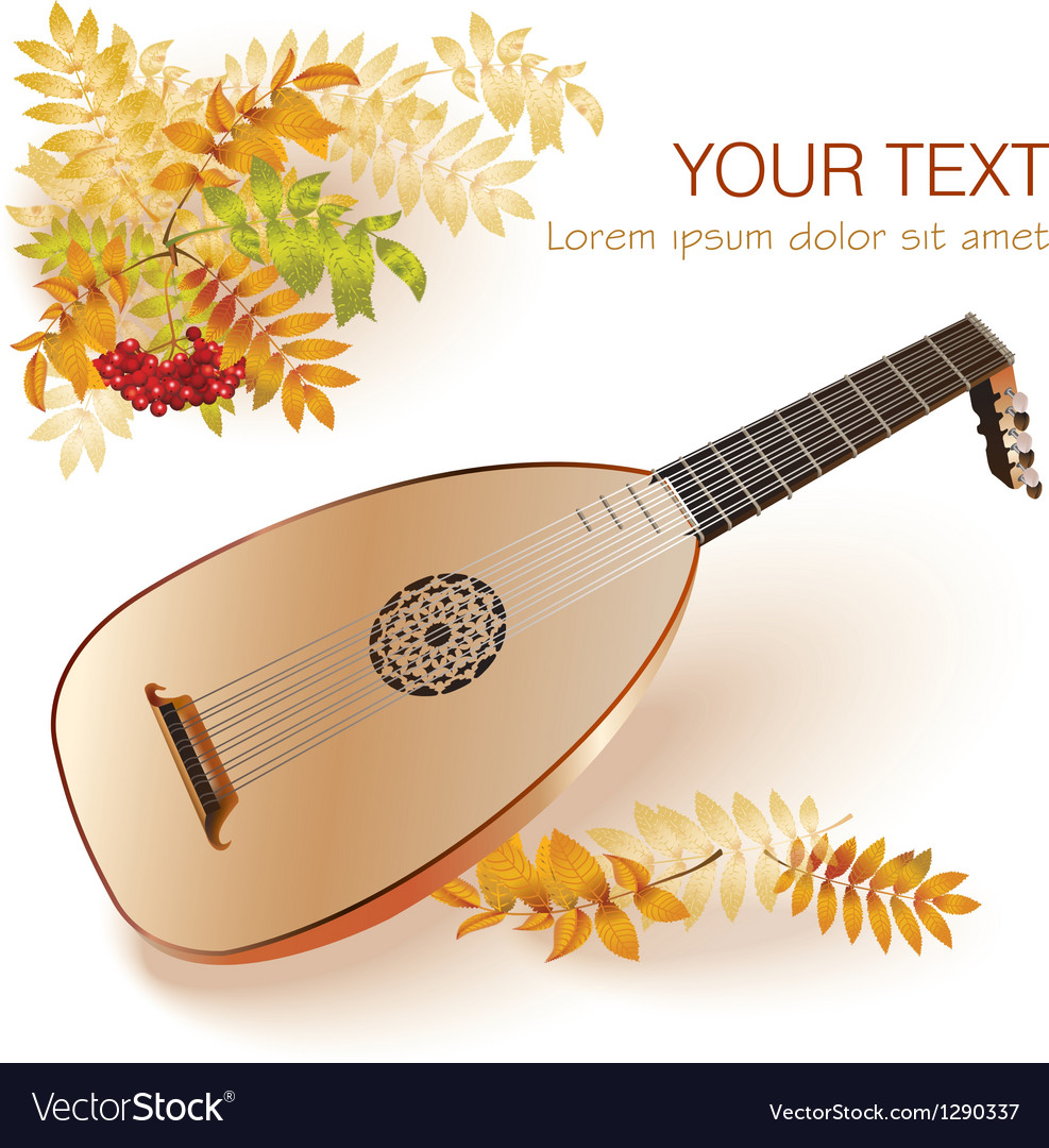 Baroque era lute vector | Price: 3 Credit (USD $3)