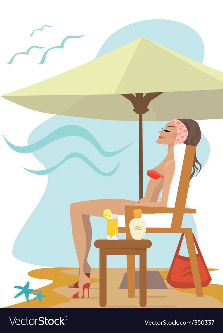 Bikini girl vector | Price: 3 Credit (USD $3)