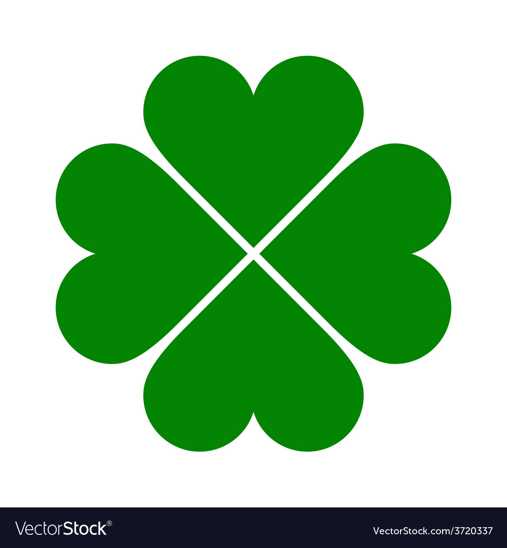 Clover with four leaves icon vector | Price: 1 Credit (USD $1)