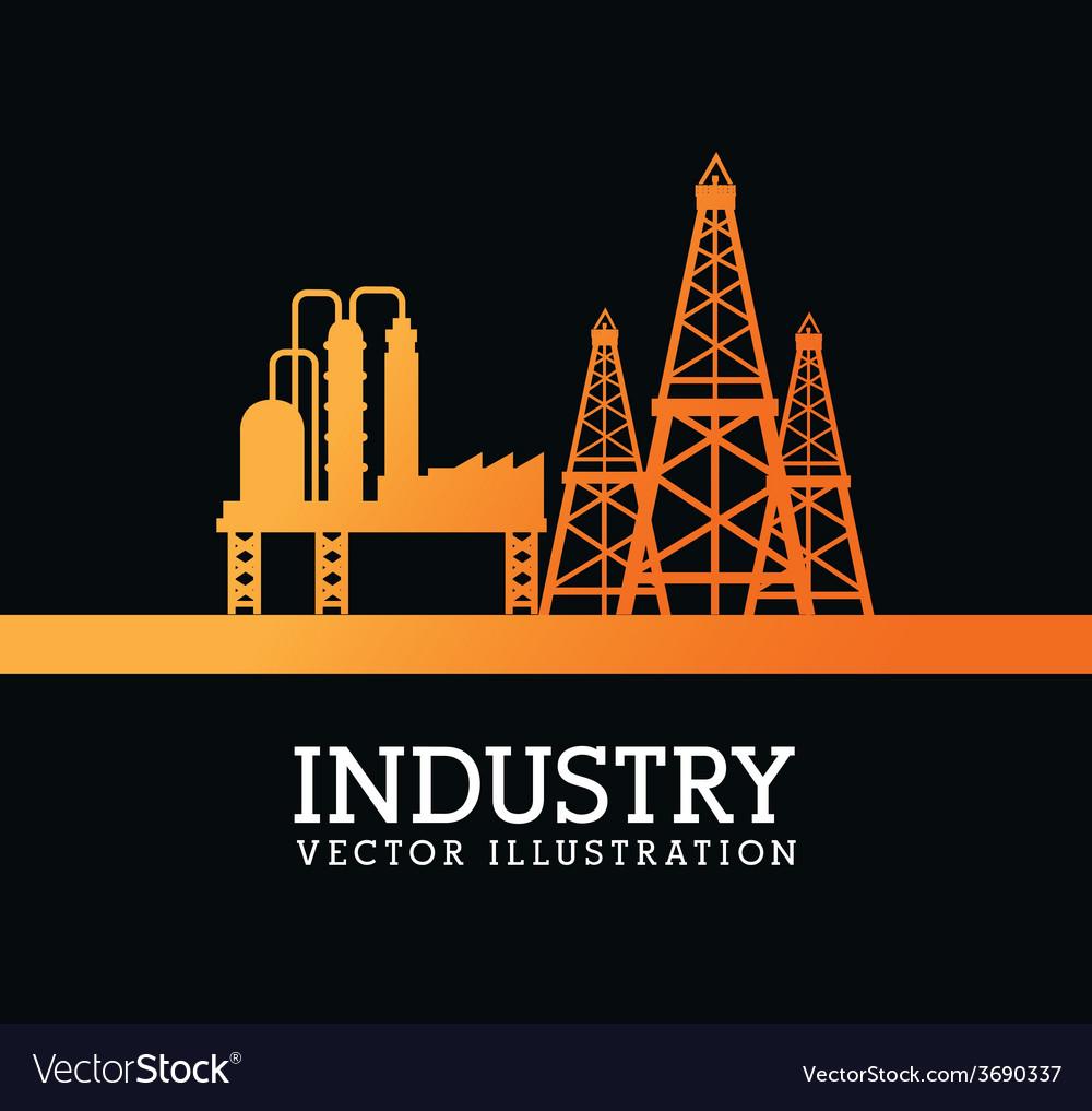 Industry design over black background vector | Price: 1 Credit (USD $1)